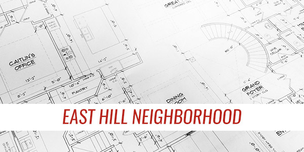 east hill neighborhood custom homes