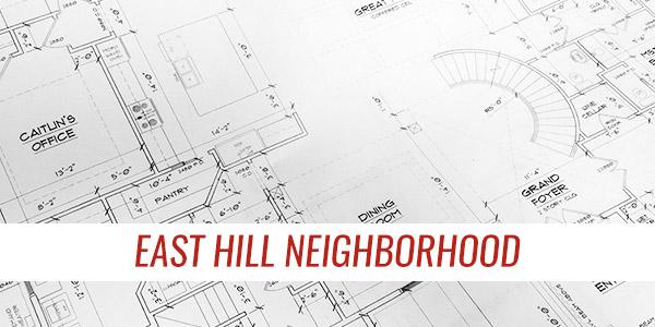east hill neighborhood custom homes
